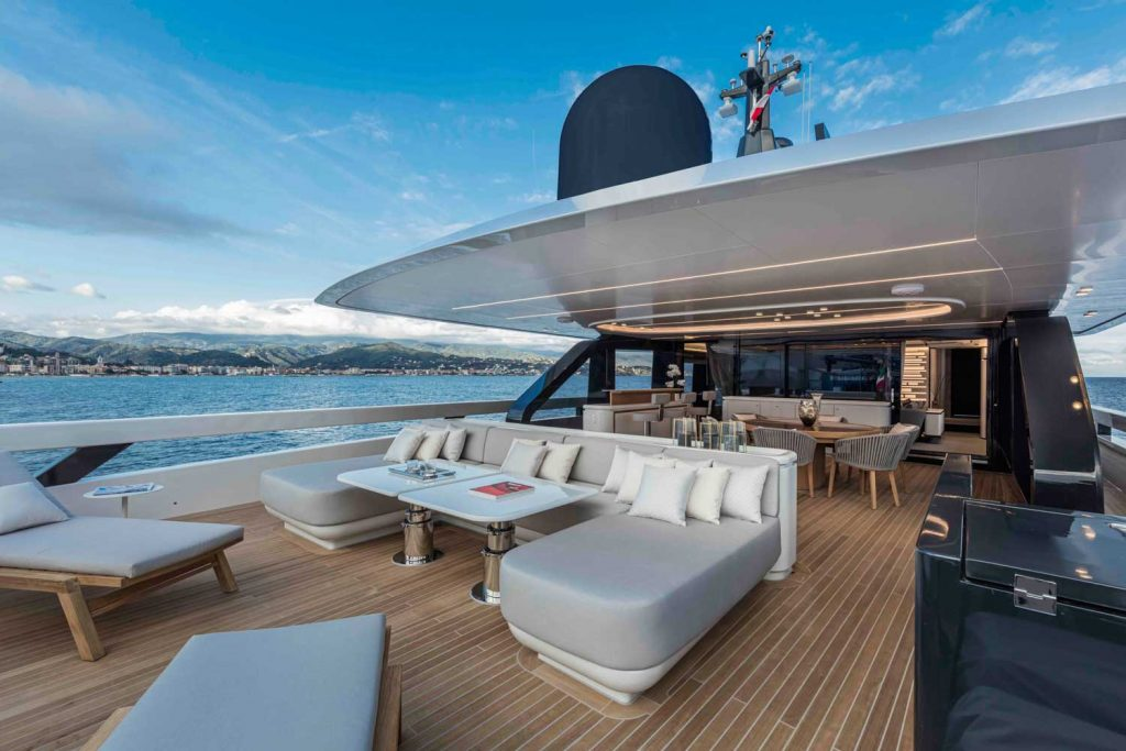 Extra Yacht 130 Exterior Relax Area